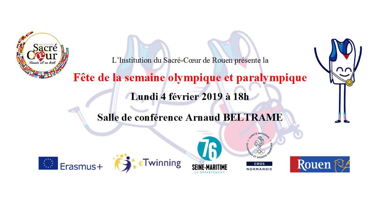 Fête de la Semaine olympique et paralympique au Département - 04-02-2019