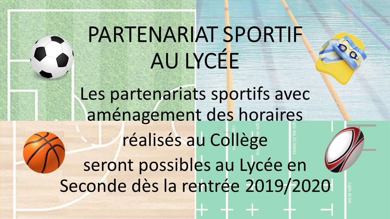 Partenariat Sportif au Lycée