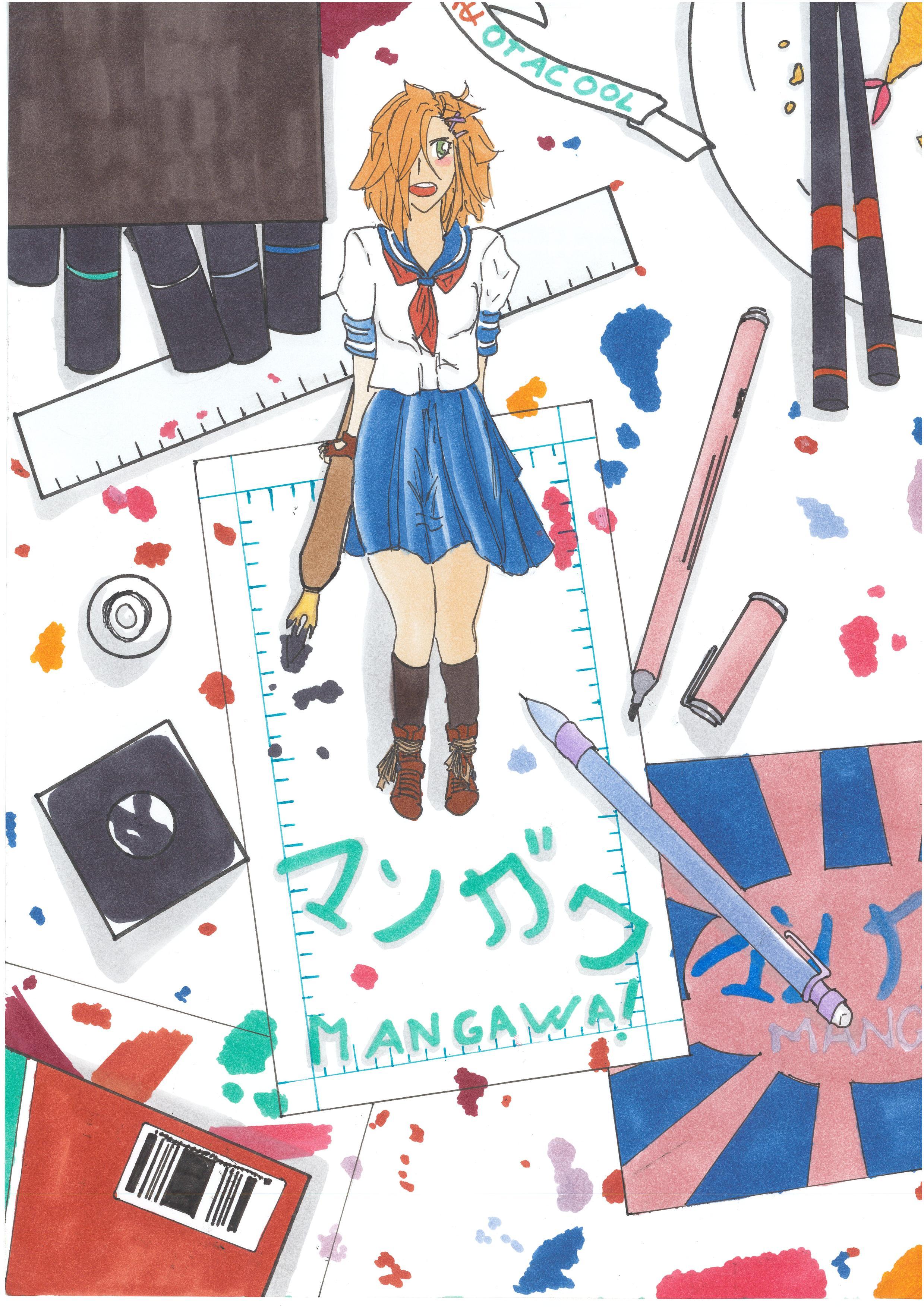 Solvejg MARTIN, élève de 4ème, est présélectionnée au niveau national pour le Prix Mangawa !